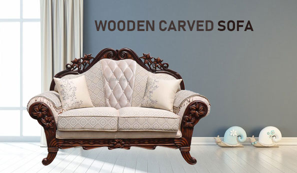 Wooden Carved Sofa Manufacturers in Tirap